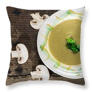 Mushroom Soup Throw Pillow by Deyan Georgiev