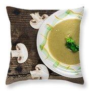 Mushroom Soup Throw Pillow