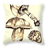 Mushroom Study 4 Throw Pillow
