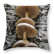 Mushroom Treehouse Throw Pillow