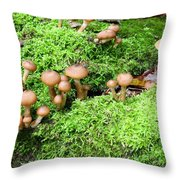 Mushrooms And Moss 2 Throw Pillow