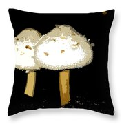 Mushrooms For Two Work Number 11 Throw Pillow