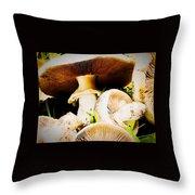 Mushrooms Throw Pillow
