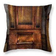 Music - Organist - What A Big Organ You Have  Throw Pillow