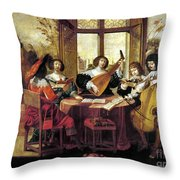 Music, 17th Century Throw Pillow