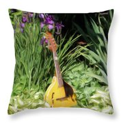 Music And Flowers Throw Pillow