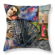 Music And Wine Throw Pillow