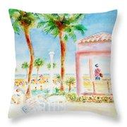 Music At Orange Beach Throw Pillow