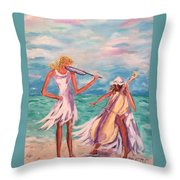 Music At The Water's Edge Throw Pillow