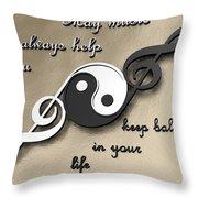 Music Balance Throw Pillow