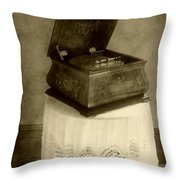 Music Box Memories Throw Pillow