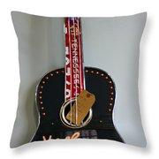 Music City Guitar Throw Pillow