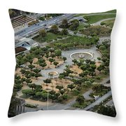 Music Concourse At Golden Gate Park In San Francisco Throw Pillow