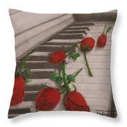 Music Creates Beautiful Things Throw Pillow