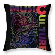 Music Culture Throw Pillow