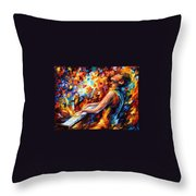 Music Fight Throw Pillow