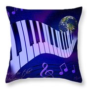 Music For The Universe Throw Pillow by Judi Quelland
