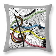 Music Gives Life Throw Pillow