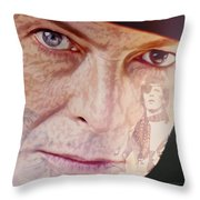 Music Icons - David Bowie Vll Throw Pillow