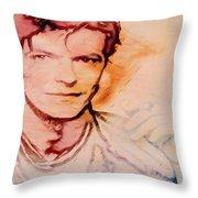 Music Icons - David Bowie Vlll Throw Pillow