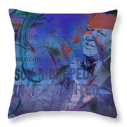 Music Icons - Frank Sinatra Iv Throw Pillow