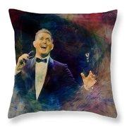 Music Icons - Michael Buble IIi Throw Pillow