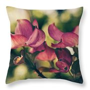 Music In Bloom Throw Pillow
