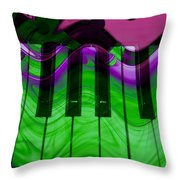 Music In Color Throw Pillow