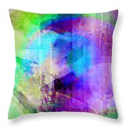 Music In The Forest - Abstract Art Throw Pillow