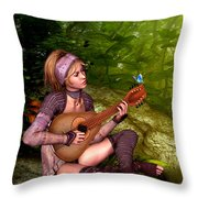 Music In The Woods Throw Pillow