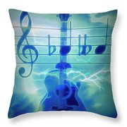 Music Is Everything Lightning Throw Pillow