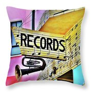 Its About Vinyl Throw Pillow