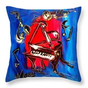 Music Throw Pillow