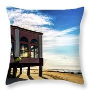 Music Pier Flare Throw Pillow