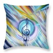 Music Reflexion Throw Pillow