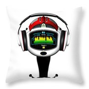 Music Roboto Throw Pillow