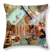 Music Shop Throw Pillow