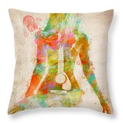 Music Was My First Love Throw Pillow