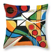 Musical Abstract Throw Pillow