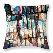 Musical Cassette Tapes Collage Throw Pillow