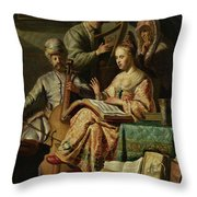 Musical Company Throw Pillow