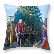 Musical Entertainers In Central Park In Bariloche-argentina Throw Pillow