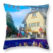 Musical Entertainment In Central Park In Bariloche-argentina Throw Pillow