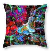 Musical Fountain Throw Pillow