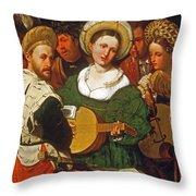 Musical Group Throw Pillow
