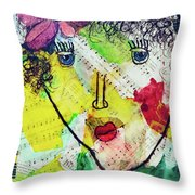 Musical Lady Throw Pillow