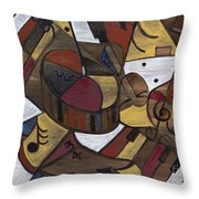 Musicality In Brown Throw Pillow