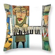 Musician Trio Throw Pillow