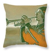 Musician Youth 3 Throw Pillow