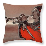 Musician Youth 4 Throw Pillow